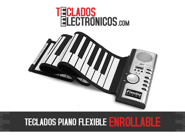 Teclados flexibles enrollables